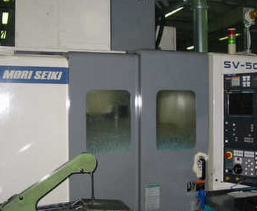 Vertical machining center With pallet changer MORI SEIKI